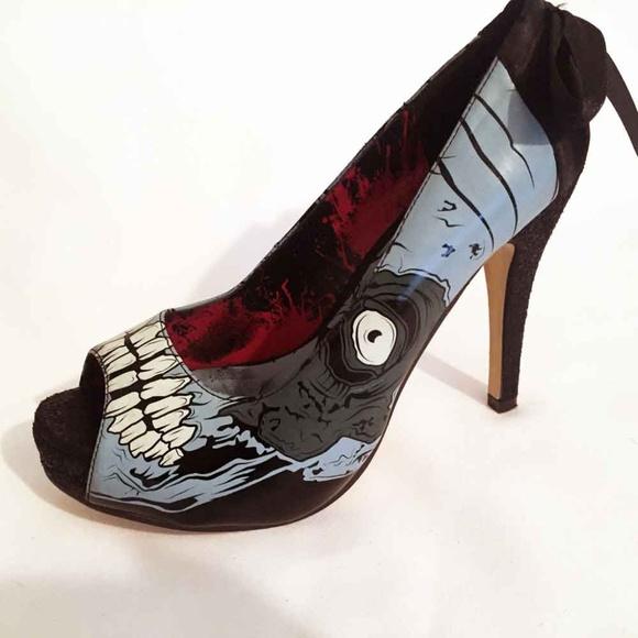 Iron Fist Zombie Stomper Limited Ed. Platform Peep Toe Heels